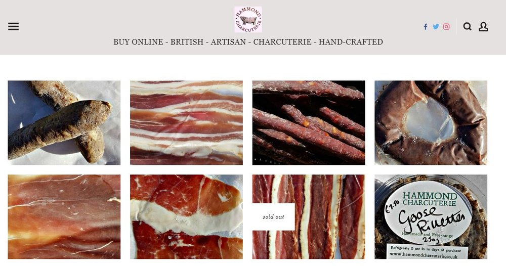 Online shop for Hammond Charcuterie -  www.hammondcharcuterie.co.uk