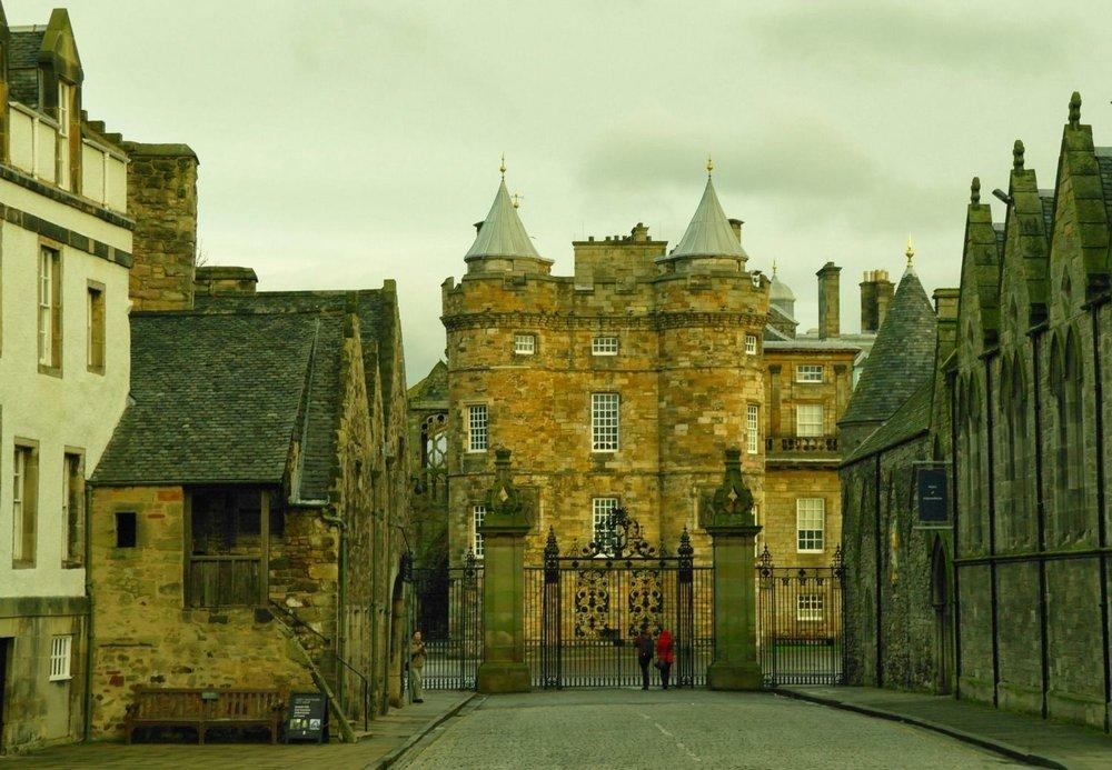 The Palace of Holyroodhouse. an Edinburgh ho-hum.