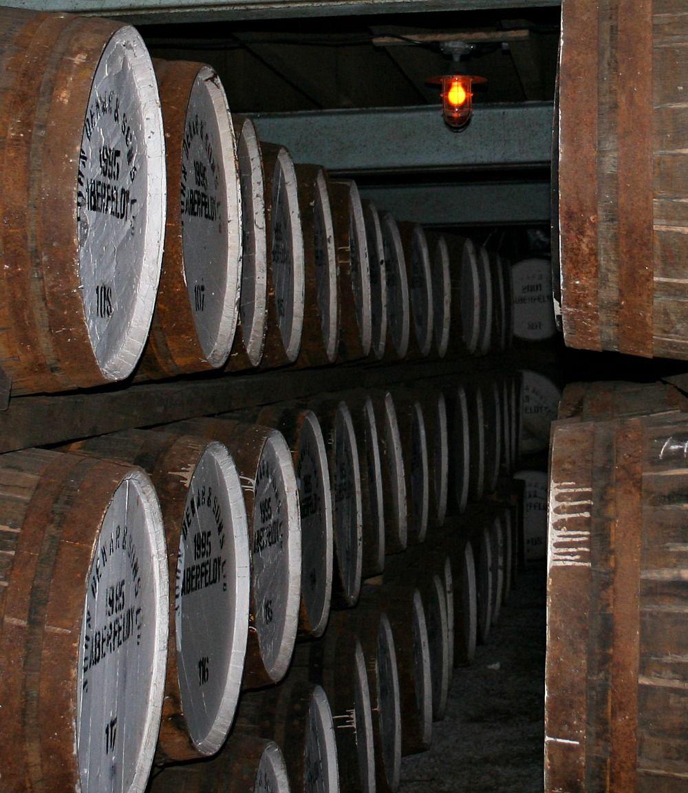 Malt whisky barrels maturing...we're waiting...waiting