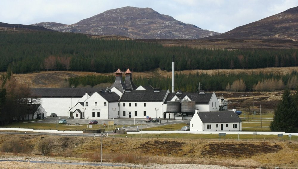 Dalwhinnie Distillery, from the A9, the Highland road