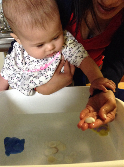 Our infants loved splashing in the water and finding new treasures.