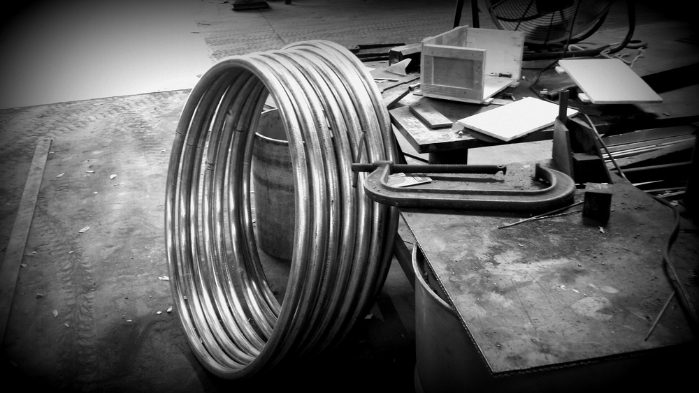 "1-1/2""sch40 Galv. Mast Hoops for Shipbuilder"