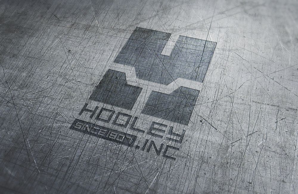 Hooley Logo on Steel Plate