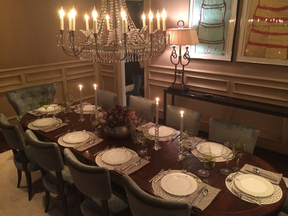 Dining Table for a Holiday Party