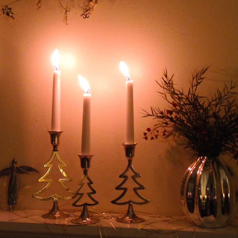 Scandimerican Holiday - Silver and glowing candles