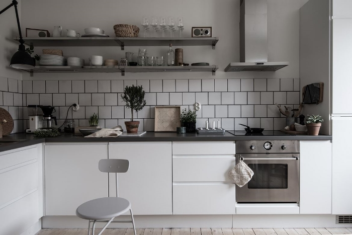 I like how there's no fuss in a bistro style kitchen.