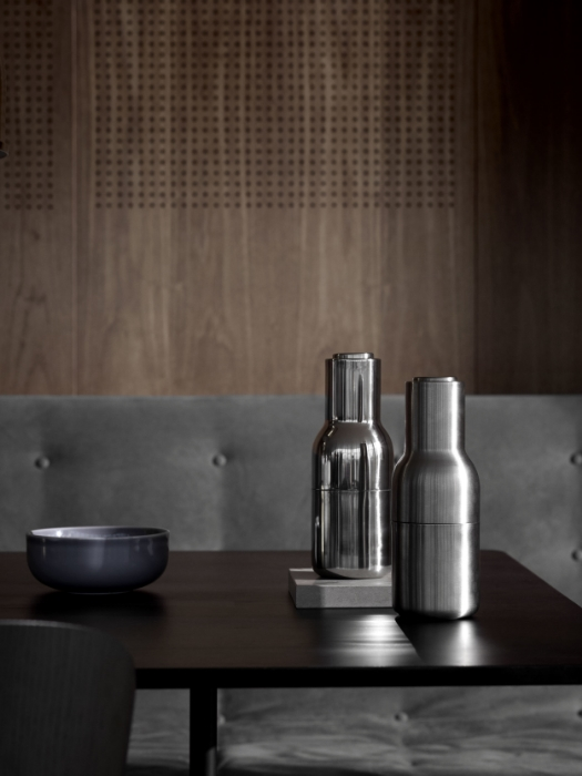 """Bottle grinders from the collection """"Modernism Reimagined"""" by Menu."""