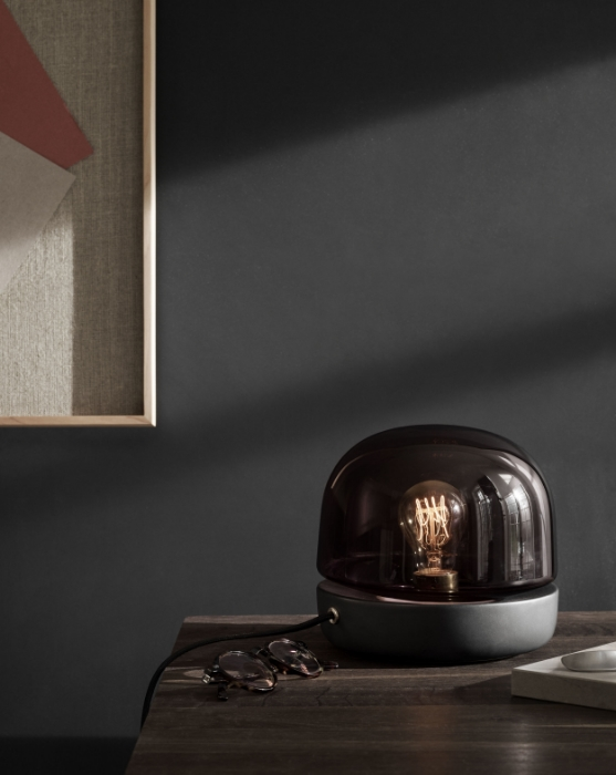 Smoky glass in 'stone lamp' from Menu