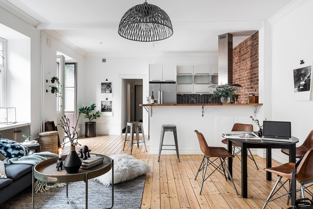 A scandinavian home with a touch of NY