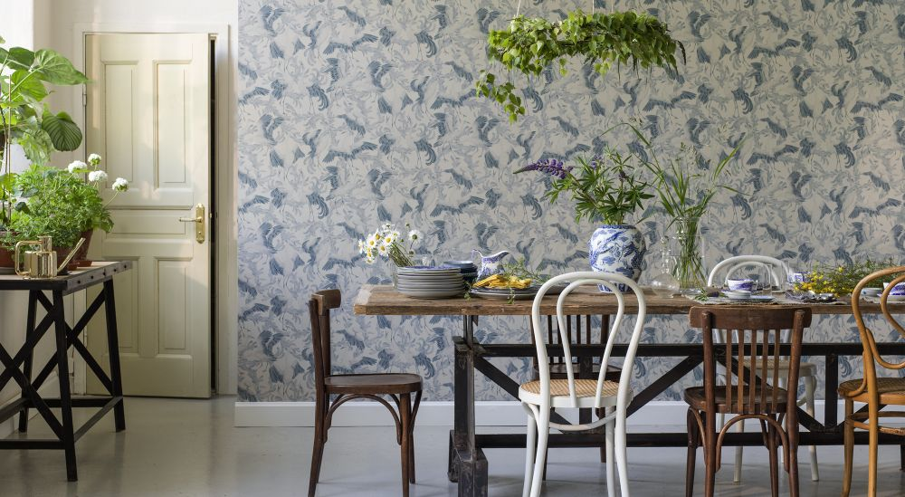 Dancing Cranes by Emma von Bromssen for Eco Wallpaper