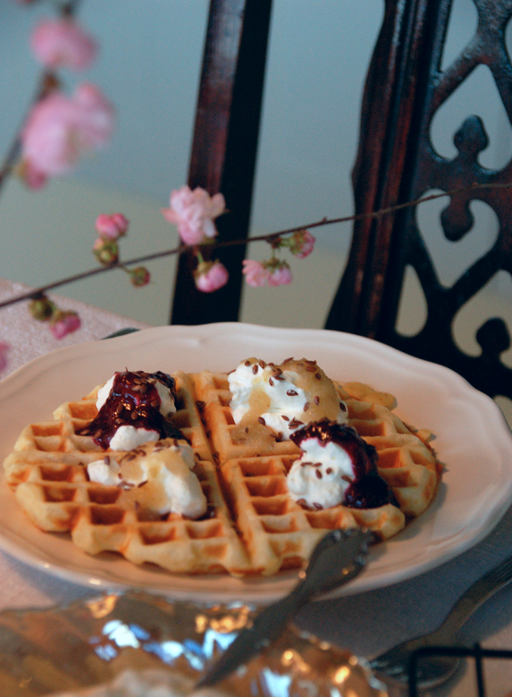 Waffles for dinner. A few tips to make them a little bit healthier.