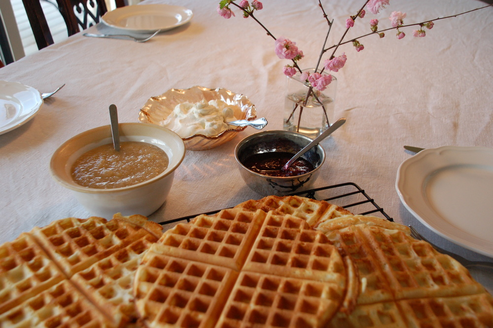 Waffles for dinner! A few tips on how to make them a little healthier.