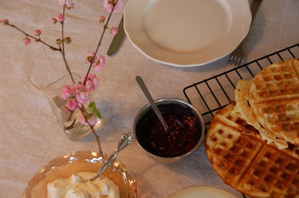 Waffles for dinner! And a few tips on how to make them a little bit healthier.