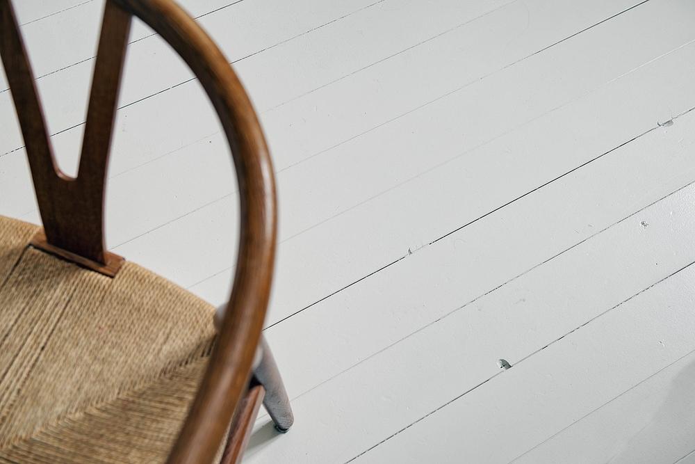 Grey painted wood floors