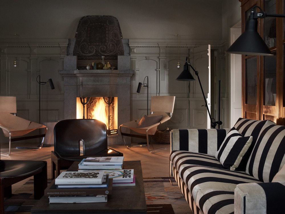 Crackling fireplaces and a selection of Scandinavian furniture that makes you green with envy.