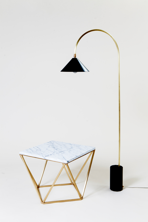 2016 ICFF Editors Award Winner for Best First Time Exhibitor: Coil & Drift. Here is the Bishop Floor Lamp.