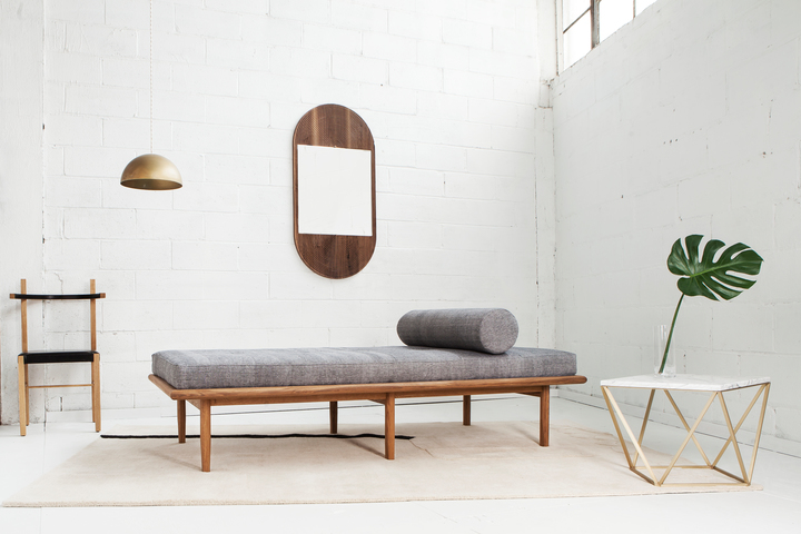 2016 ICFF Editors Award Winner for Best First Time Exhibitor: Coil & Drift. Here is the Sylva Daybed.
