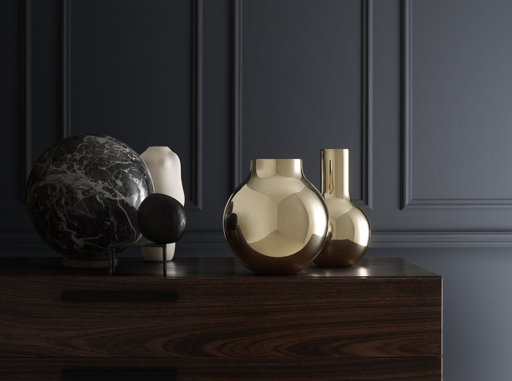 Brass vases from Skultuna.