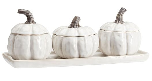 Gourd condiment set from Potterybarn.