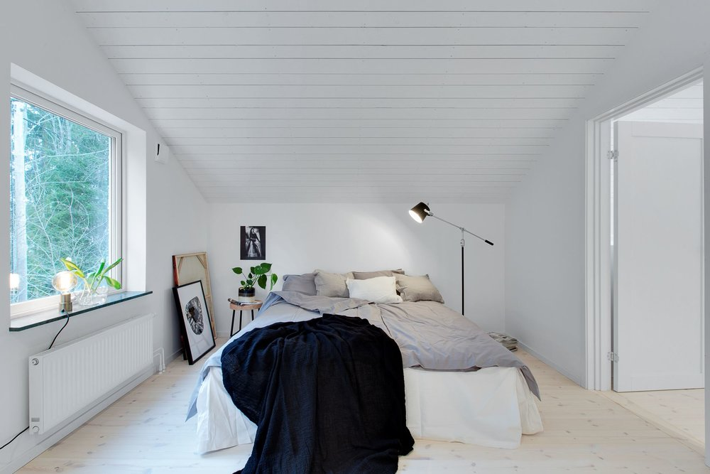 Modern Scandinavian home - bedroom.