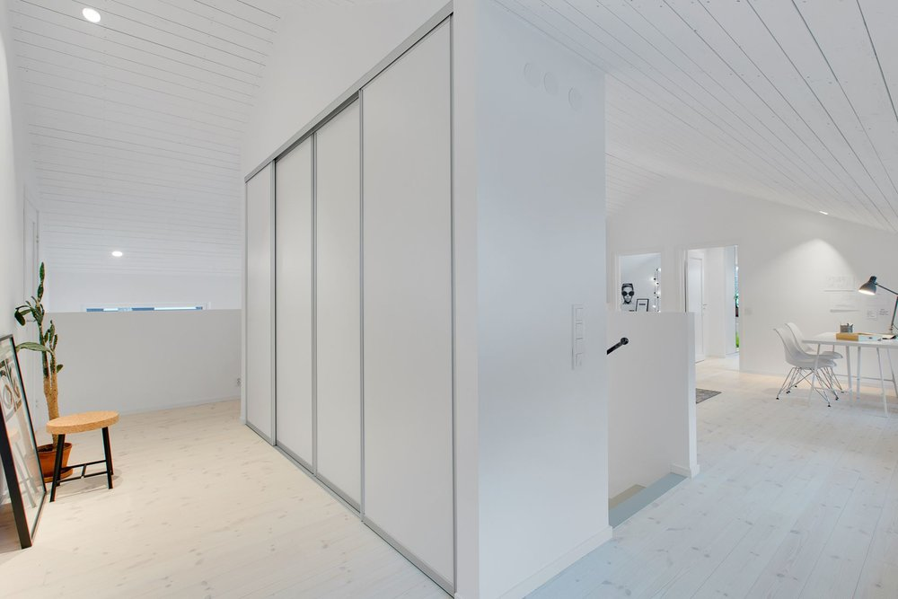 Modern Scandinavian home - closets.