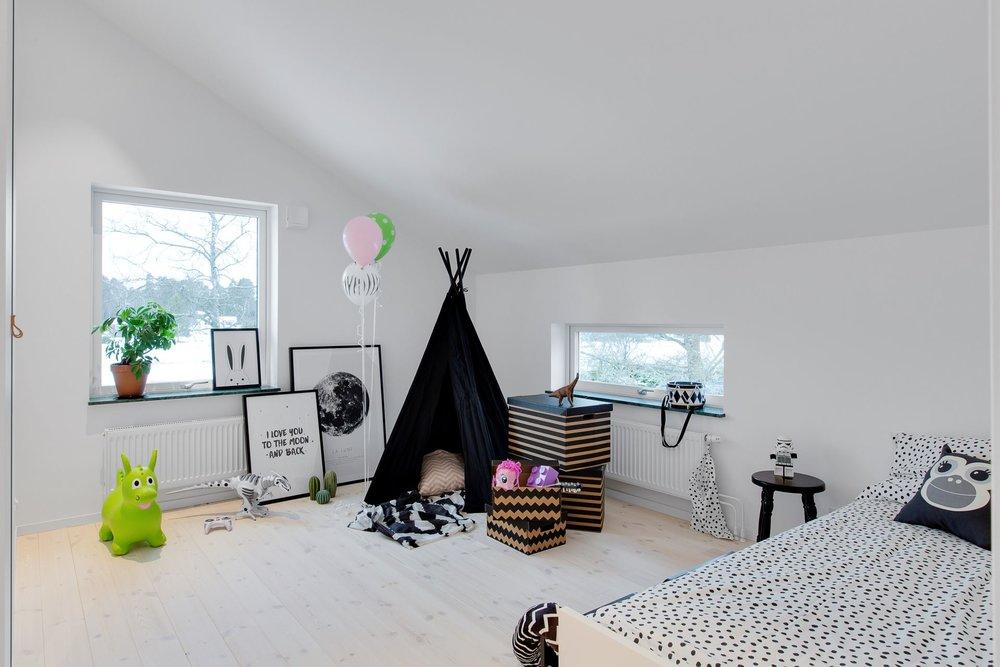 Modern Scandinavian home - kids room.