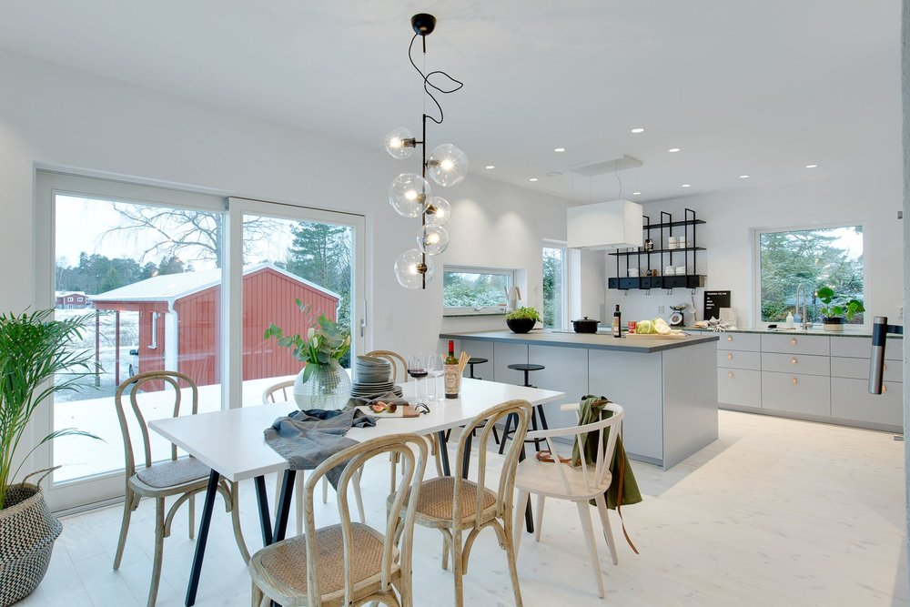 Modern Scandinavian kitchen.
