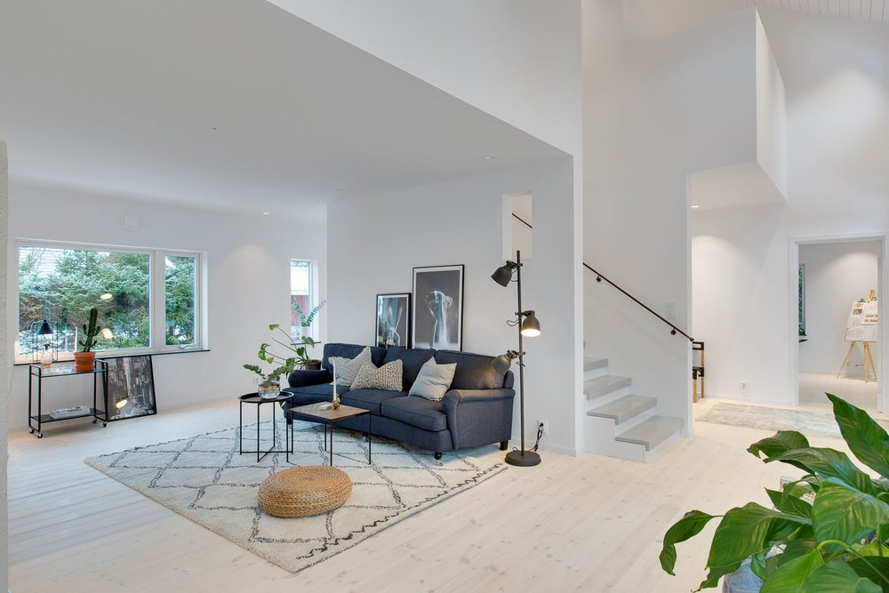 Modern Scandinavian living room.