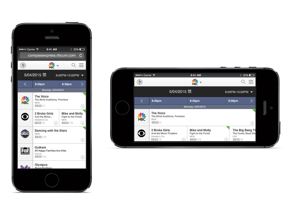 Scheduling Tool - Mobile View