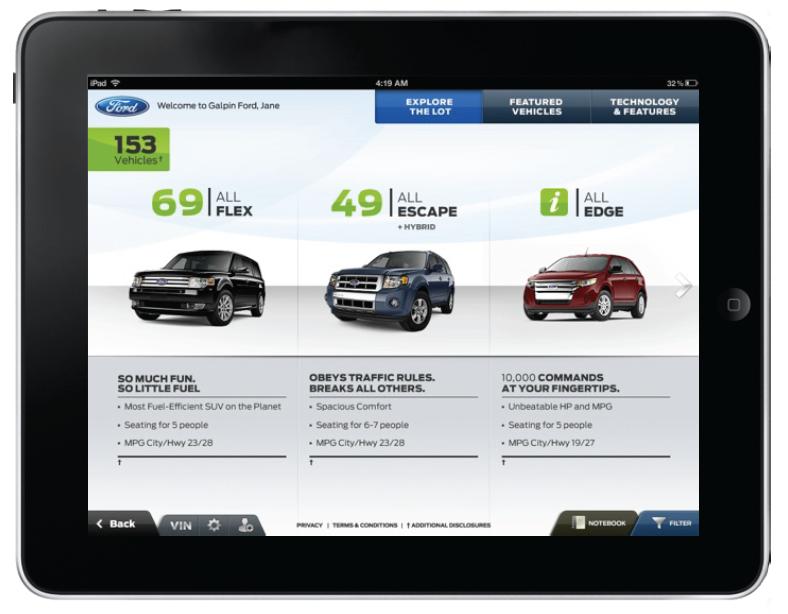 Ford Dealer Sales Tool Prototype