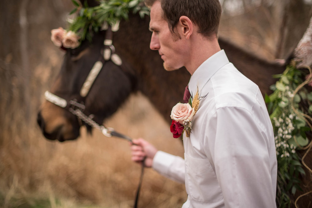 Boutonniere by Raw Floral.
