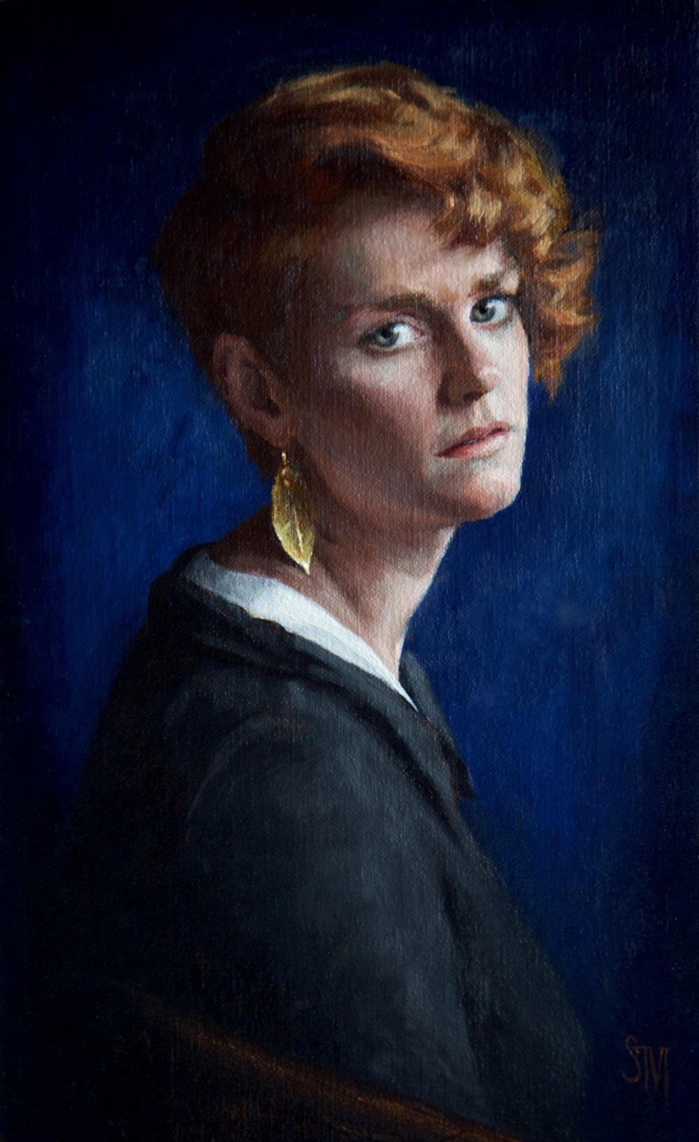 'Kara in Blue', 2016 (c) Sarah-Margaret Gibson