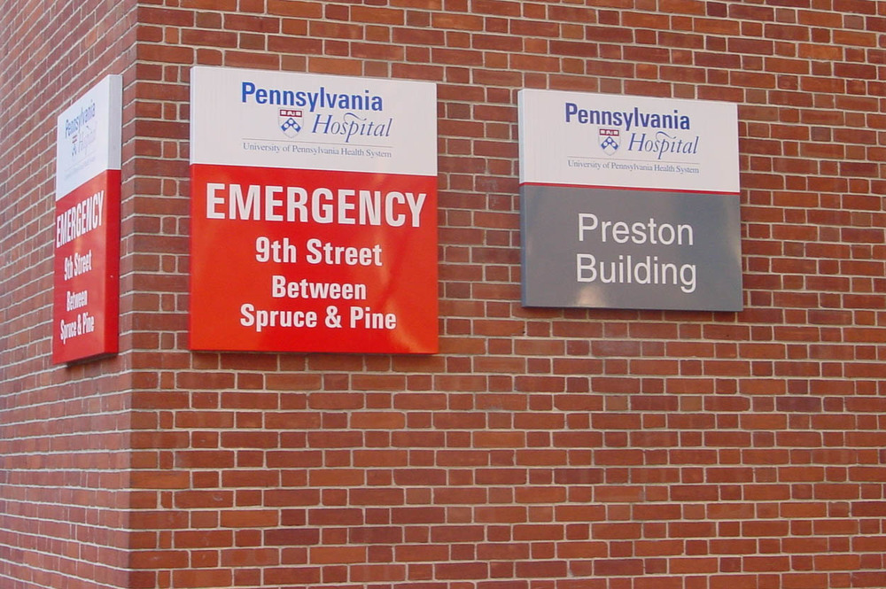 Pennsylvania Hospital  Philadelphia PA   ©2016 PMDI Signs