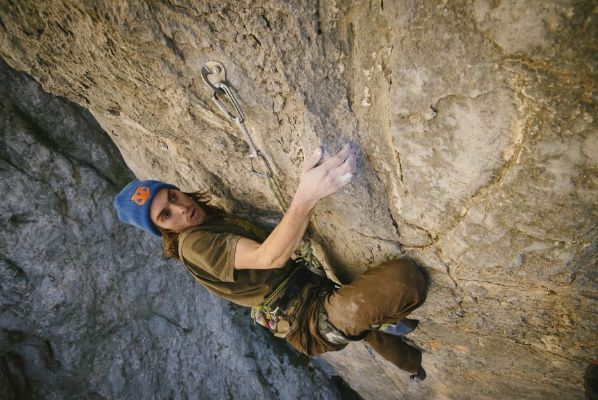 Paul Roberts on Cyclops 5.13a, Potrero Chico, Mexico. Photo: Kiliii Fish Photography