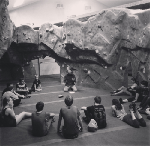 Paul Roberts teaching to Granite Arch Climbing Centers Team.