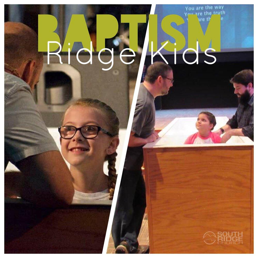 Child/Student Baptism