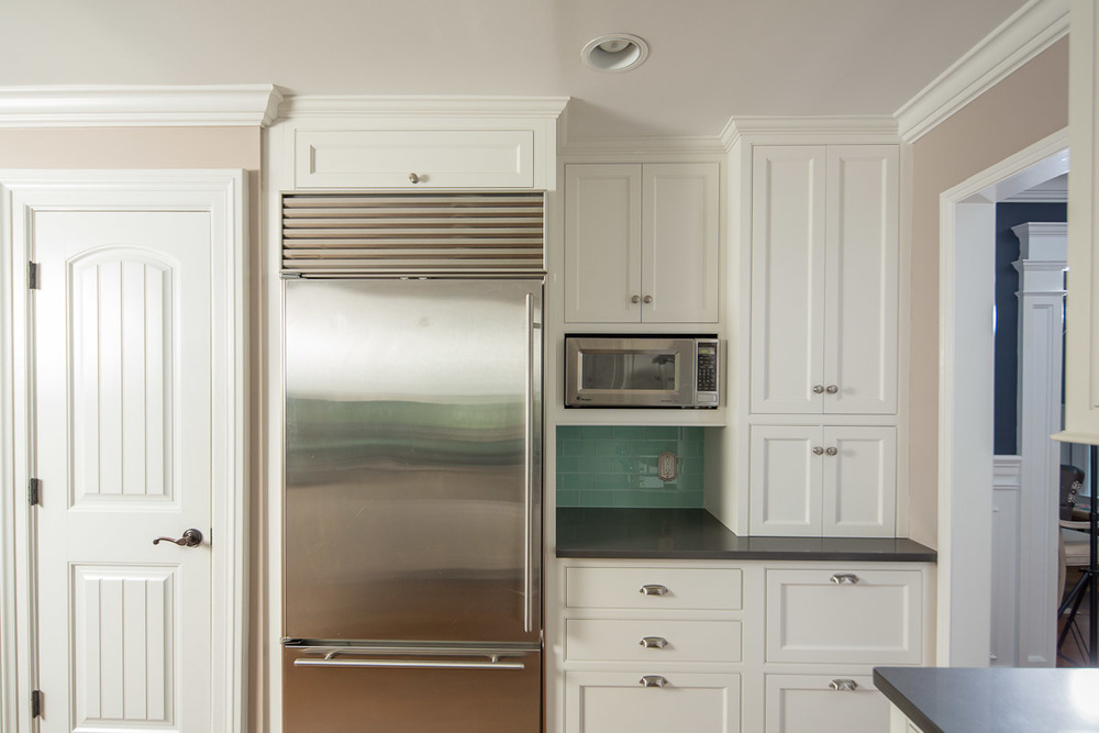 White Kitchen Cabinet Appliance Garage