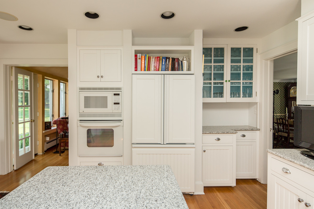 White Kitchen with Refrigerator Panels