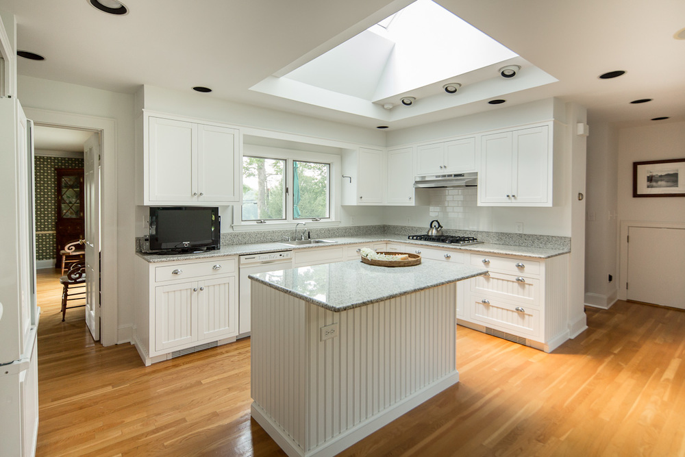 White Kitchen with Beadboard