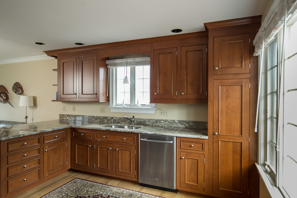 Traditional Custom Cherry Kitchen Cabinets