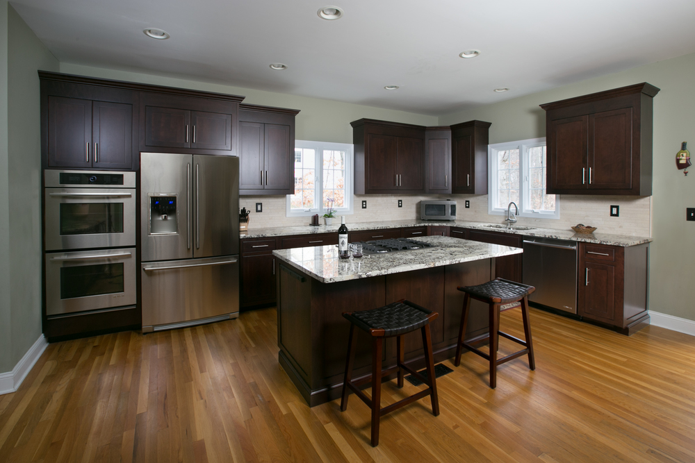 Contemporary Cherry Custom Kitchen