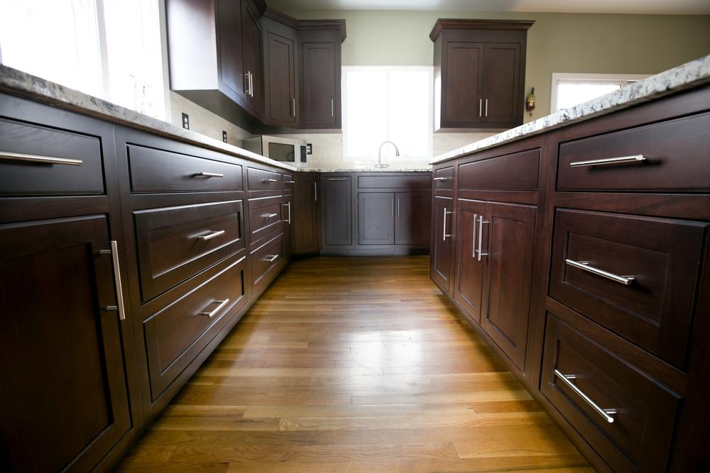Modern Inset Espresso Cherry Kitchen Cabinets