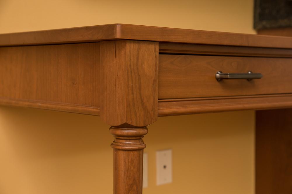Cherry Cabinet Leg Post