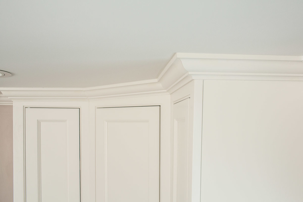 White Cabinet Crown Molding