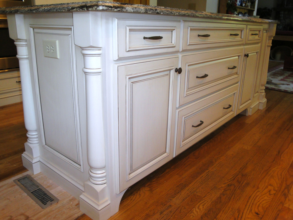 Making your kitchen your kitchen ackley cabinet llc for Kitchen cabinets with legs