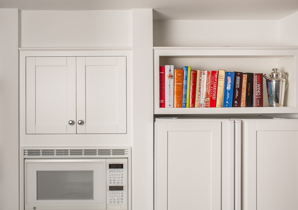 White Kitchen Bookshelf