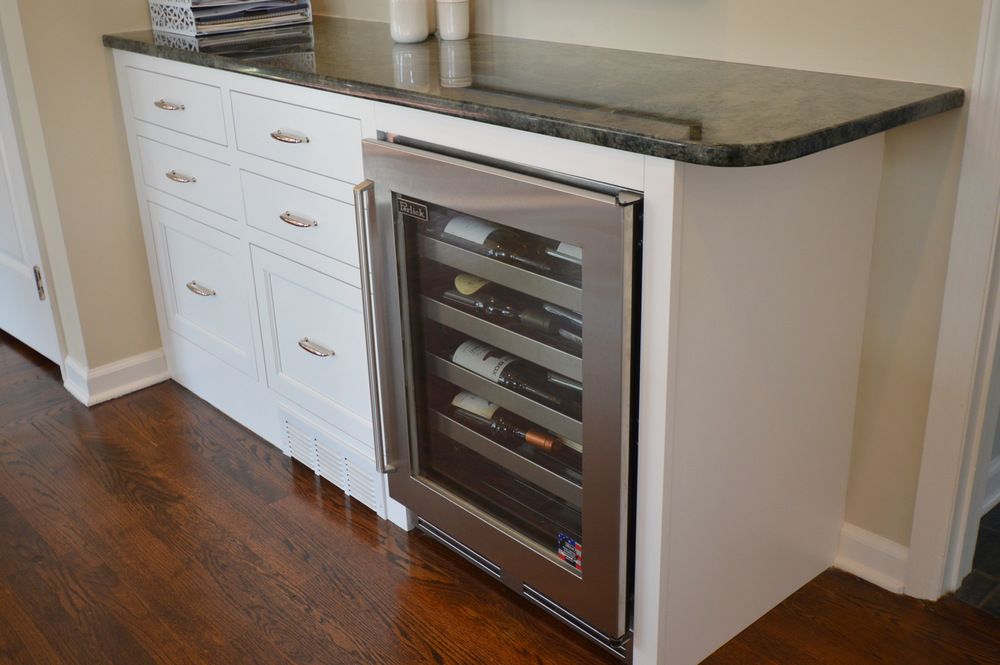Stainless Steel Wine Cooler - White Kitchen Cabinets