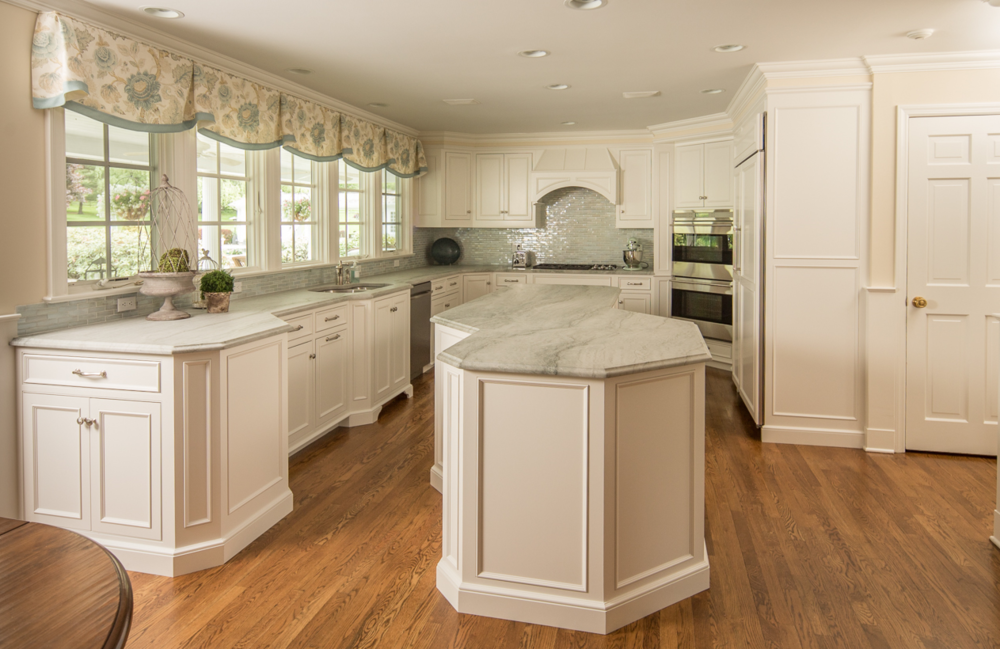 Soft White Kitchen | Custom Cabinet Remodeling Project - Wilton CT