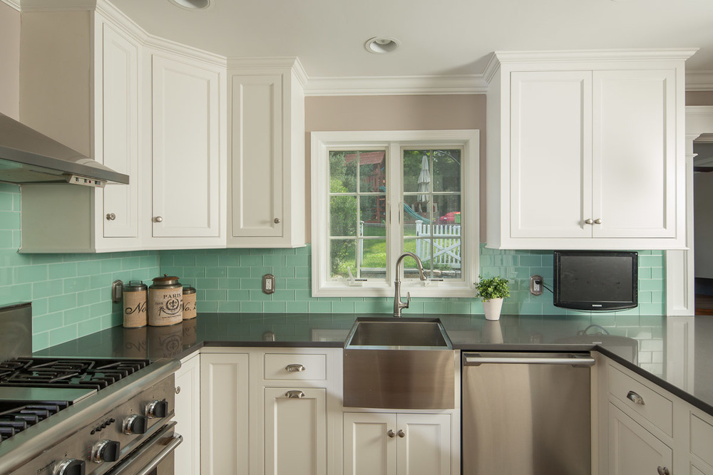 Transitional White Kitchen Cabinets - Mt. Kisco NY | Ackley Cabinet LLC