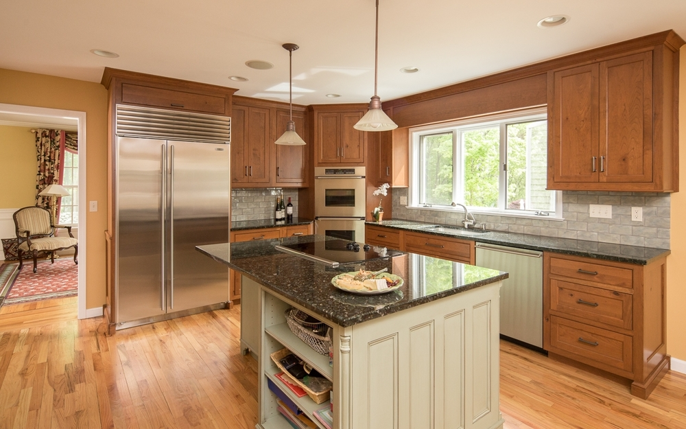 Designer Kitchen and Elegant Custom Cherry Cabinets — Ackley ...